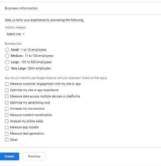 google analytics about your business