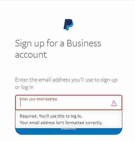 Enter your email address you use for Paypal