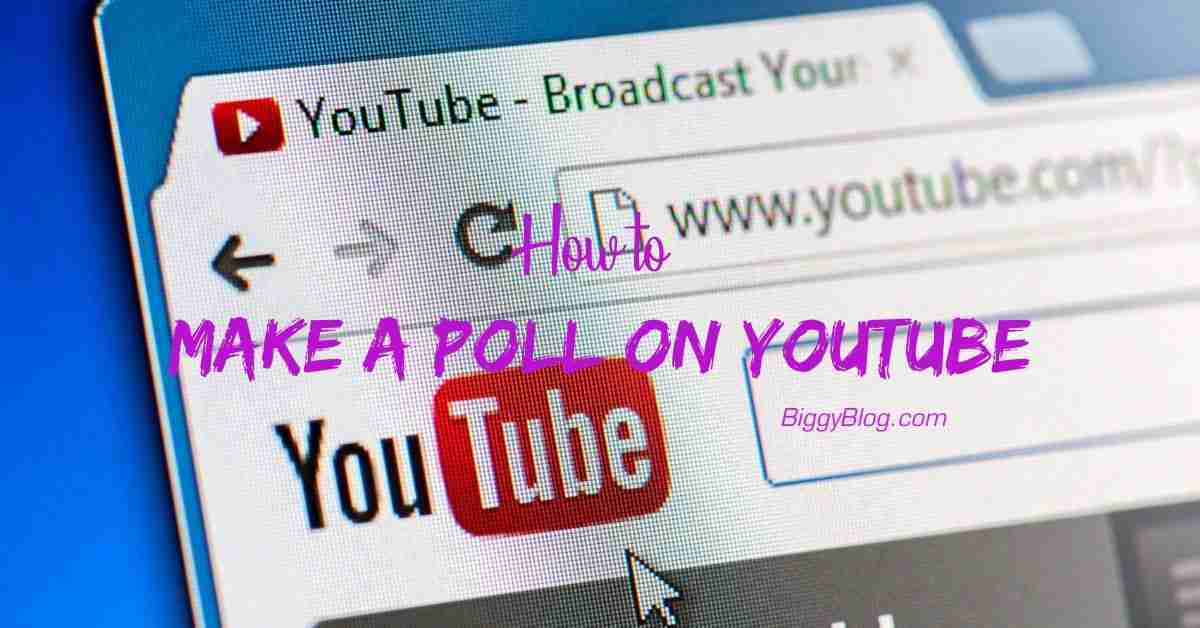 How to Make a Poll on Youtube