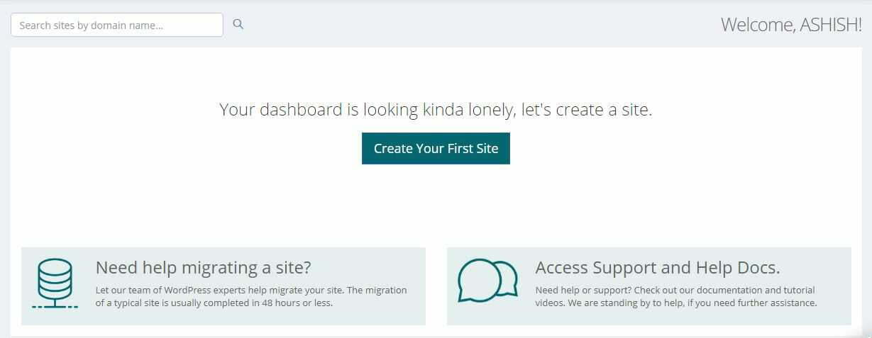 convesio create your first site