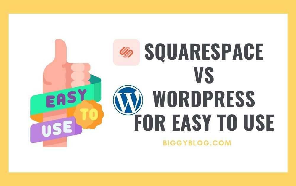 Squarespace vs WordPress for Easy to Use