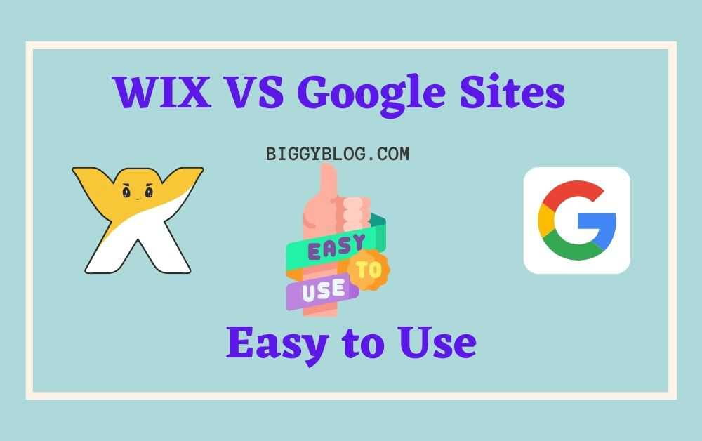 Wix vs Google sites for Easy to Use